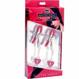 Charmed Heart Padlock Nipple Clamps Box