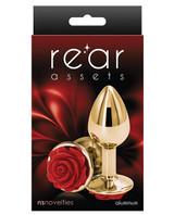 Rear Assets Metal Plug - Red Rose