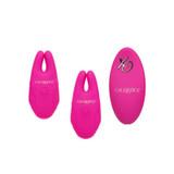 Calexotic Pink Remote Control Vibrating Nipple Clamps