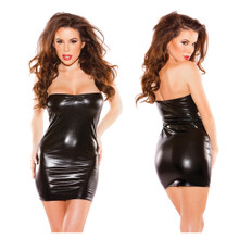 Kissable Kitten Wet Look Dress