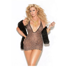 Vivace Leopard Mini Dress  - Plus Size