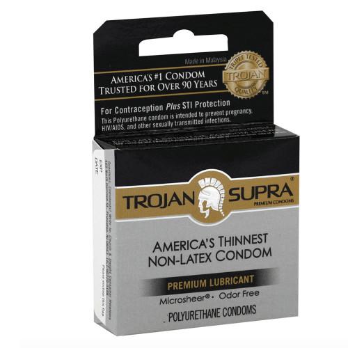 Trojan Supra Non-Latex Condoms