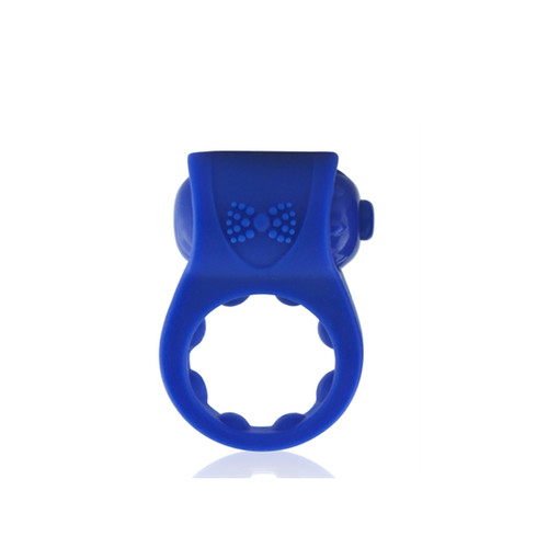 Prim O Tux Vibrating Erection Ring - Blue