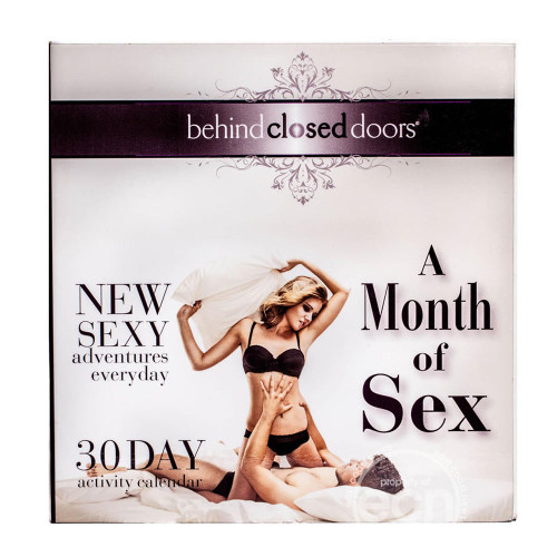 Behind Closed Doors Month Of Sex Activity Calendar