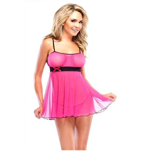 Coquette Lingerie Pink Baby Doll