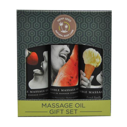 Earthly Body Edible Massage Oil Box Set