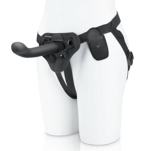 """Pegasus 6"""" P-Spot G-Spot Peg Rechargeable Remote Control Harness Set Black"""