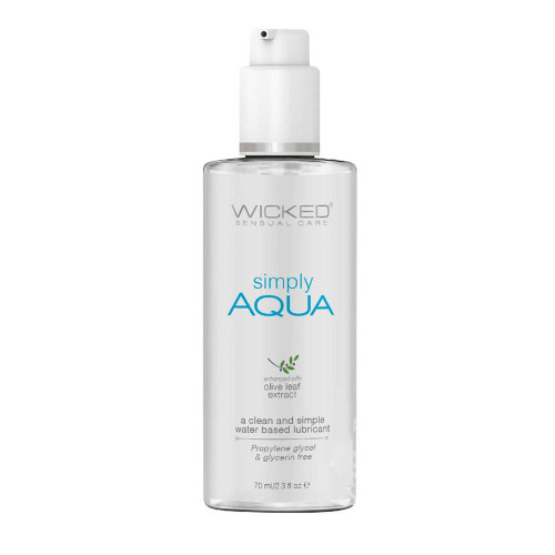 Wicked Simply Aqua Water Based Lubricant With Olive Leaf Extract