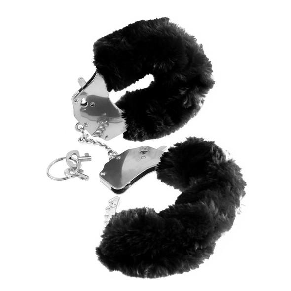 Black Furry Cuffs