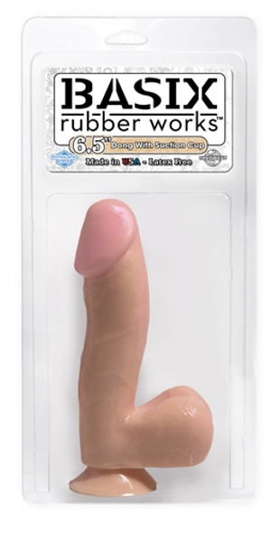 Basix Realistic Dildo with Balls and Suction Cup