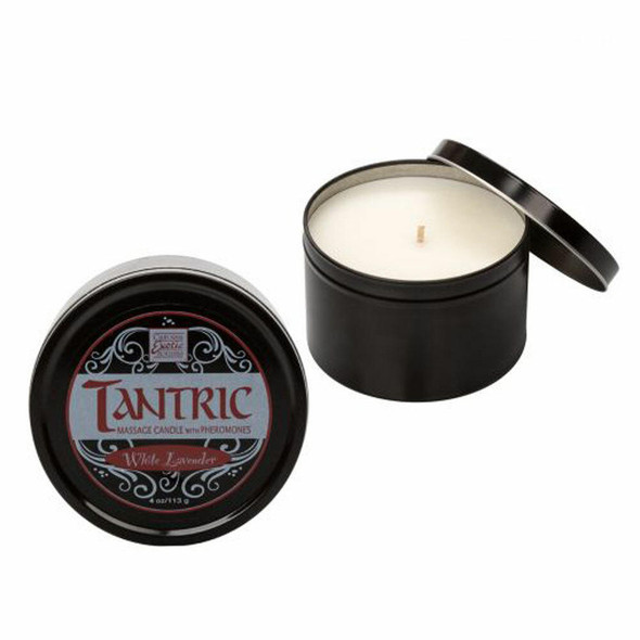 Tantric Soy Massage Candle with Pheromones - Lavender