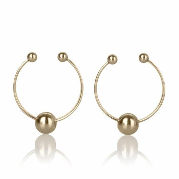Gold Non-Piercing Nipple Rings