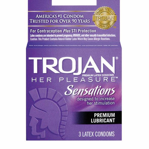 Her Pleasure Sensation Condoms 3Pkg