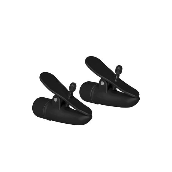 Nipplettes Vibrating Nipple Clamps - Black