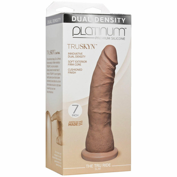 "Platinum TRUSKYN Tru Ride Slim 7"" Dildo - Box"