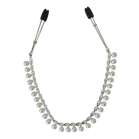 Pearl Chain Nipple Clips