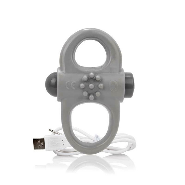 Charged Yoga  Vibrating Ring in Grey