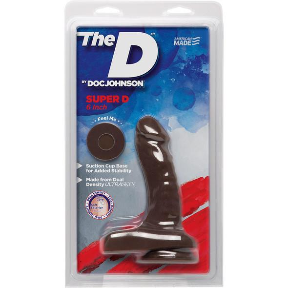 """Super D Dual Density 6"""" Dildo - Brown"""