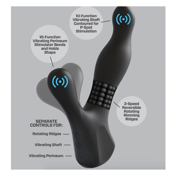 OptiMale Rimming and Vibrating P-Massager Features