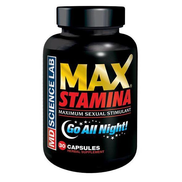 M.D. Science Labs Max Stamina 30 count bottle