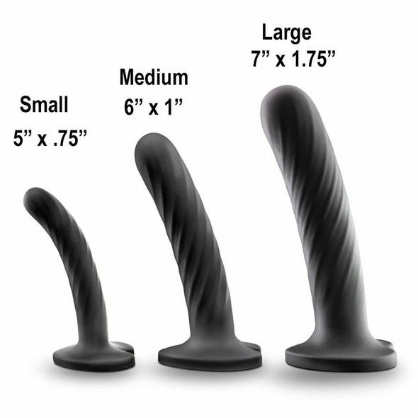 Temptasia Twist 3-Piece Dildo Kit  Sizes