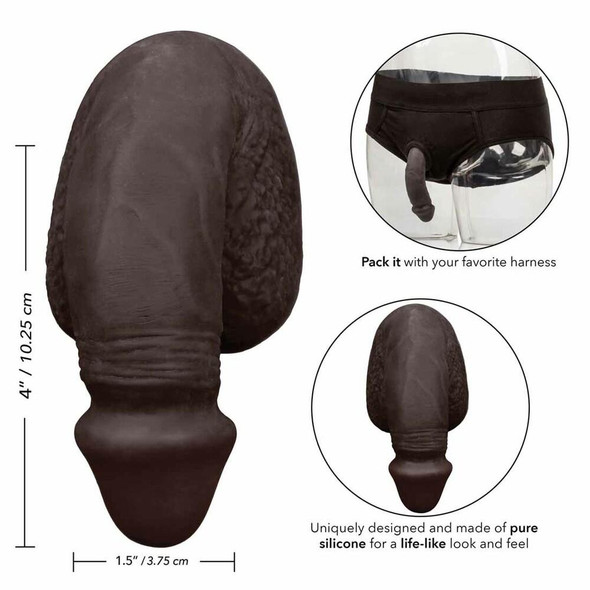 Black Silicone Packing Penis Details