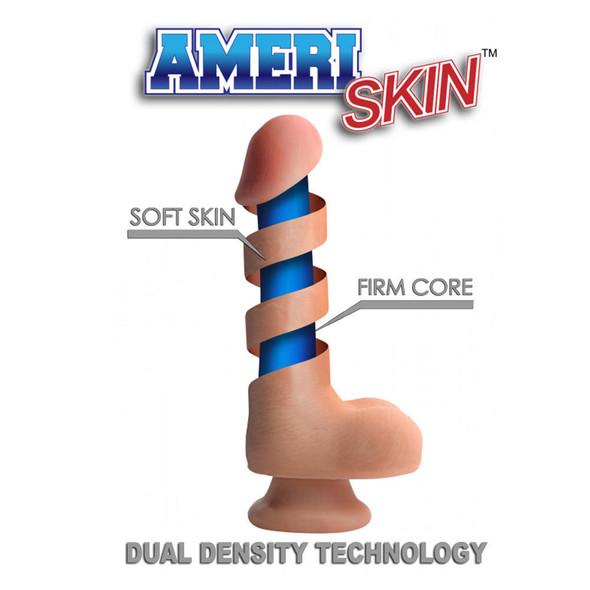 USA Cocks 7 Inch Ultra Real Dual Layer Dildo