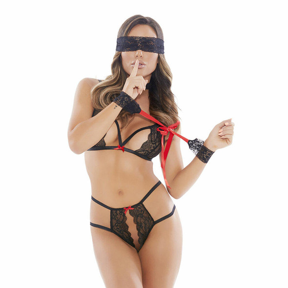 Barely Bare Tie Me Up Lingerie Set  Front
