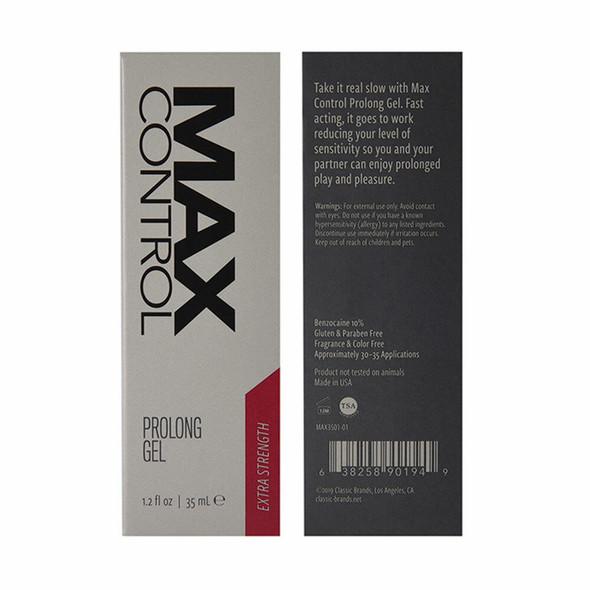 Classic Brands Max Control Prolong Gel Extra Strength