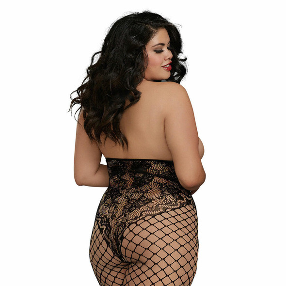 Open Cup Bodystocking - Back