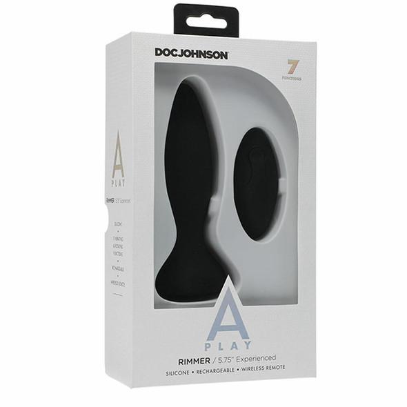 Doc Johnson A-Play Rimming Plug W/remote  - Black