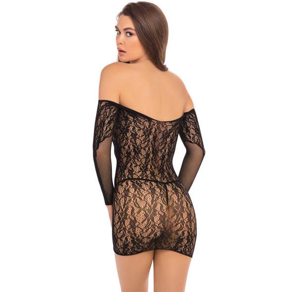 Demure Long Sleeve Mini Dress Back View