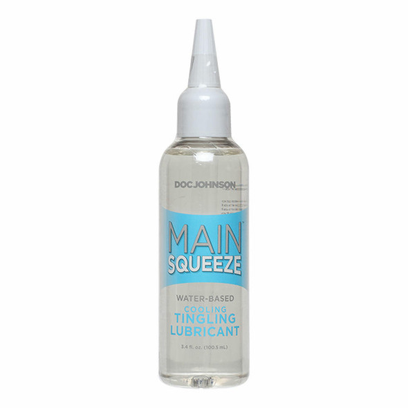 Doc Johnson Main Squeeze Water Based Lube - Cooling and Tingling