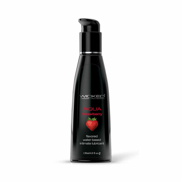 Wicked Aqua Water Based Flavored Lubricant Strawberry 4oz