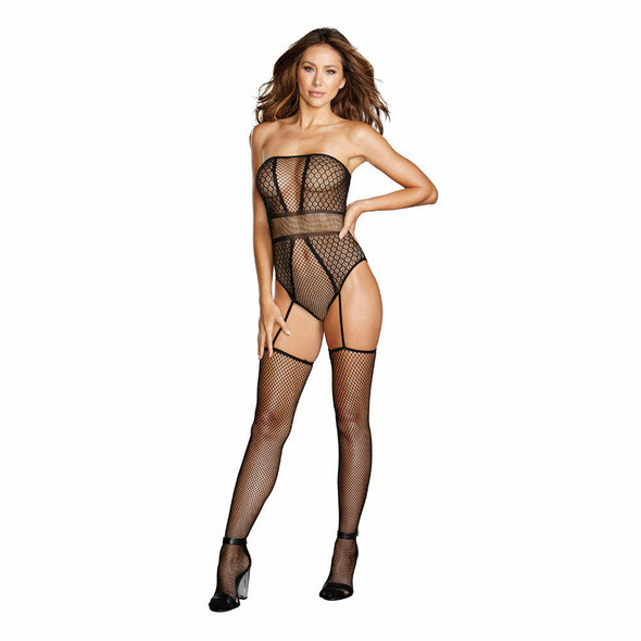 Dreamgirl Strapless Teddy Bodystocking - Front