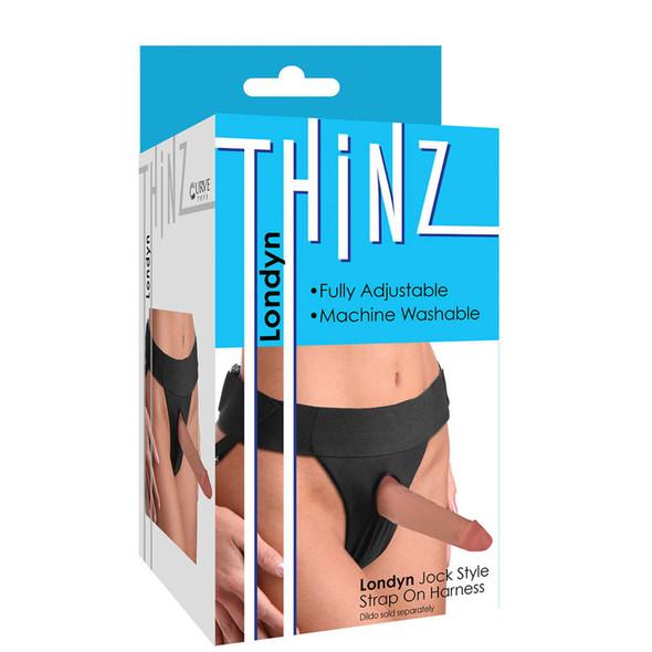 Thinz Londyn Jock Style Adjustable Strap-On Harness Box