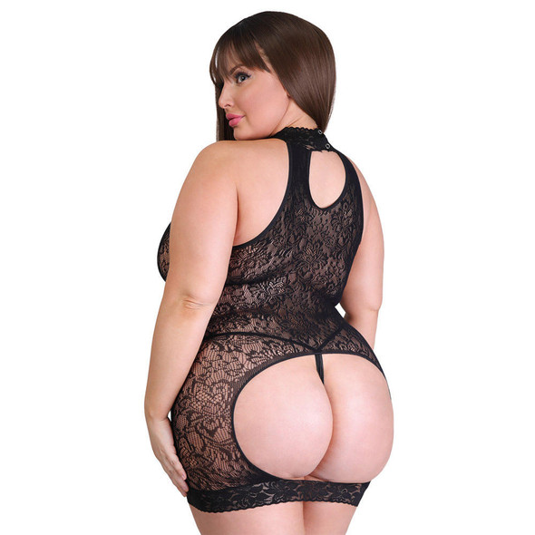 Fifty Shades of Grey Captivate Lace Spanking Mini Dress - Curve Size - Back