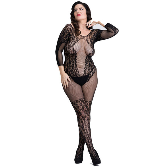 Fifty Shades of Grey Captivate Lace Spanking Bodystocking - Queen Size