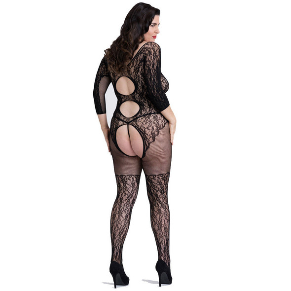 Fifty Shades of Grey Captivate Lace Spanking Bodystocking - Back View