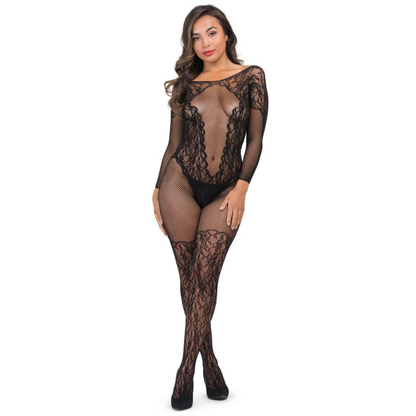 Fifty Shades Captivate Lace Spanking Bodystocking - Front