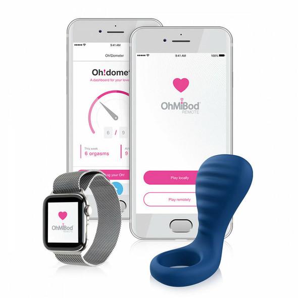 OhMiBod NEX3 BlueMotion Couple's Ring with Phone App