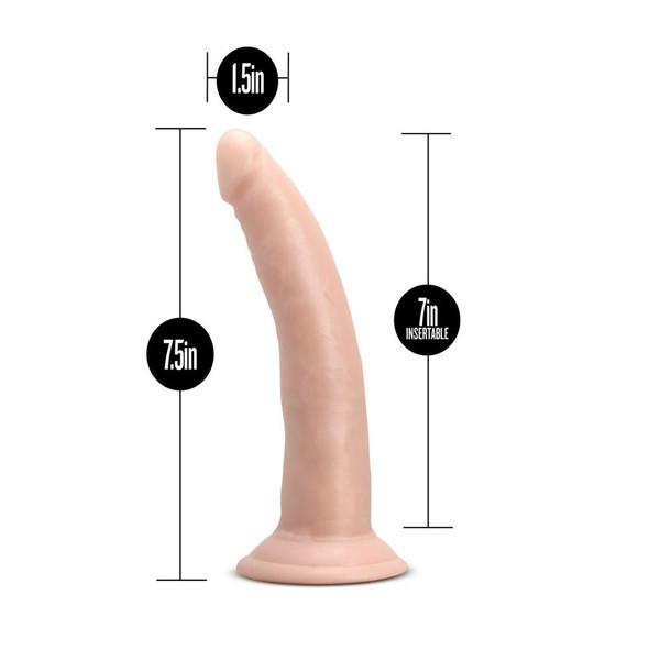 "Dr. Skin Glide 7.5"" Self Lubricating Dildo - Dimensions"