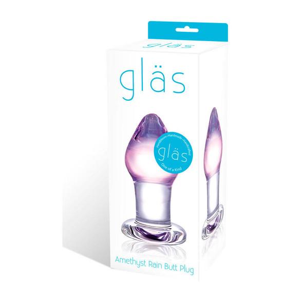 Glas Amethyst Rain Butt Plug Box