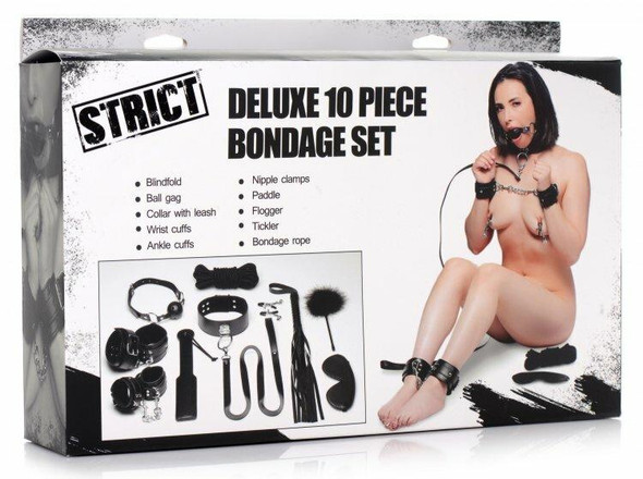 Strict Deluxe Bondage 10 Piece Set Box