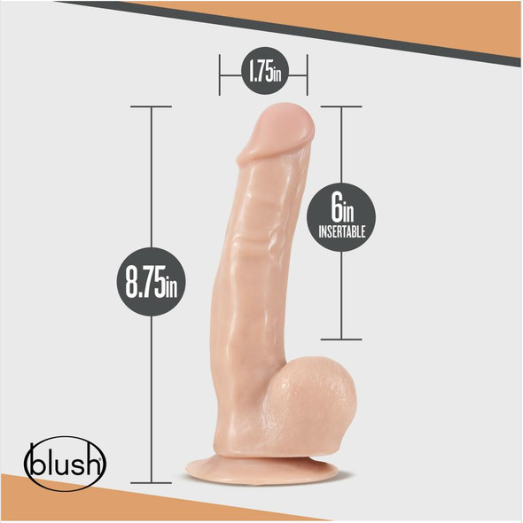 """Dr. Spin 8"""" Gyrating Realistic Dildo Dimensions"""