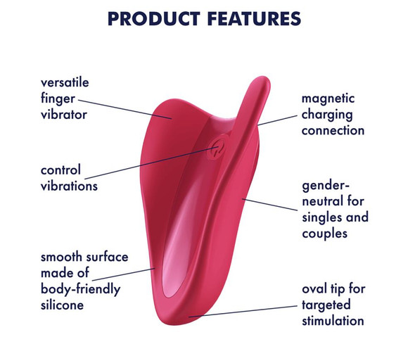 Satisfyer High Fly Silicone Massager Features