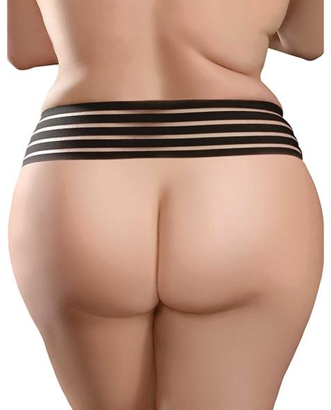 Hookup Panties Crotchless Love Garter - Back