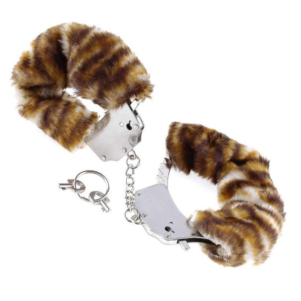 Faux Fur-Lined Metal Cuffs