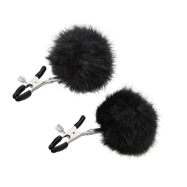 Sincerely Fur Nipple Clips  by Sportsheets