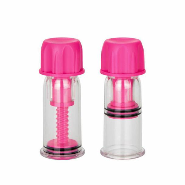 Nipple Play Vacuum Twist Suckers - Pink